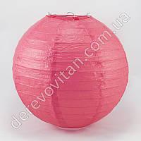 Бумажный подвесной фонарик, ярко-розовый, 20 см