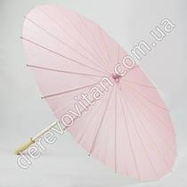 Китайский зонтик из бумаги, светло-розовый, d56 см