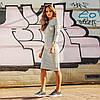 Платье классическое футляр миди серое, в наличии много цветов, смотрите на сайте