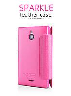 Чехол-книжка NILLKIN для телефона Nokia X2 розовый