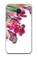 Чехол для Meizu MX5 (Бабочка с орхидеями)