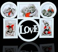 Фотоколлаж на 5 фото Чувство любви