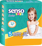 Подгузники Senso Baby Ecoline Junior 5 (11-25 кг) 32 шт