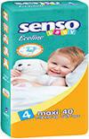 Подгузники Senso Baby Ecoline Maxi 4 (7-18 кг) 40 шт
