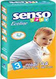 Подгузники Senso Baby Ecoline Midi 3 (4-9 кг) 44 шт