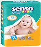 Подгузники Senso Baby Ecoline Mini 2 (3-6 кг) 52 шт