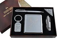 Подарочный набор Moongrass 4в1 -нож/портсигар/брелок/ручка