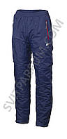 Спортивные брюки из плащевки на флисе мужские, зима