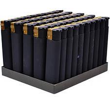 Зажигалка пьезо резина черная