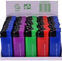 Зажигалка пьезо цветная упаковка 50 шт