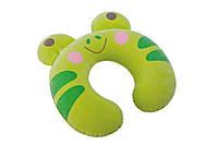 Детская надувная подушка-подголовник 68678 (28-30-8 см) hn зеленый