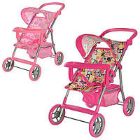 Прогулочная детская коляска для кукол Melogo 9366 T/018 HN KK