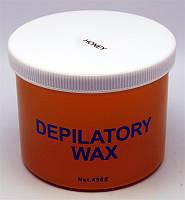 Воск для депиляции в банке Мёд 450 мл YPD-03, воск YRE, все для эпиляции воском
