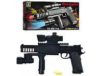 Игрушечный пистолет на пульках 28 см, лазер, фонарик, арт. ES1003-TZ2011A HN