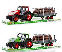 Детская игрушка Трактор 0488-182 инерционный с прицепом