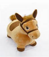Резиновый прыгун-игрушка в плюшевом чехле rb-003 kk ослик