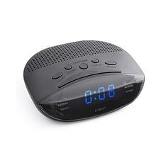 Часы сетевые 908-5 синие, радио fm