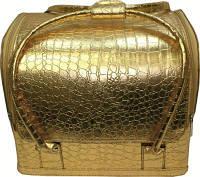 Чемодан мастера золотистый на змейке из эко-кожи cm-s-001 yre
