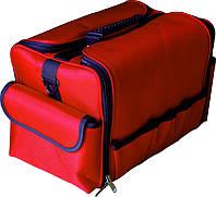 Чемодан мастера тканевый красный TJ-015 YRE, сумка для ногтевого инструмента