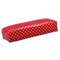Подставка для маникюра 30см красная в белый горошек, подставка YRE PRD-00, подлокотник купить в интернете