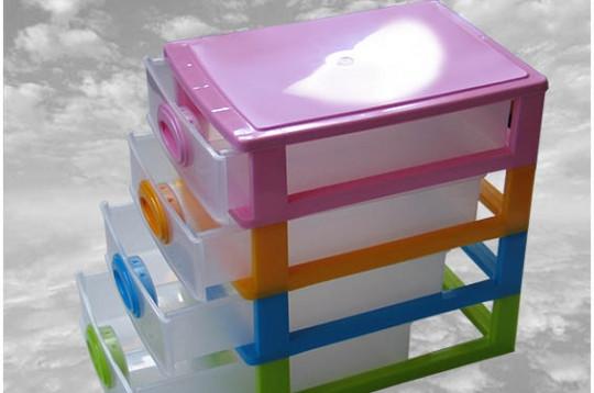Мини-комод на 4 отделения, органайзер пластиковый