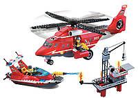Конструктор пожарная тревога, команда спасателей 404 детали brick 905 sr kk
