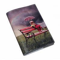 """Обложка на паспорт из натуральной кожи """"Под дождем"""""""