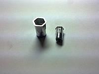 Клепальная гайка из нержавеющей стали шестигранная на 1/2, цилиндрический бортик