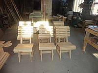 Деревянный стул со спинкой не лакированный и не крашеный