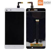 Дисплейный модуль (дисплей + сенсор) для Xiaomi Mi4, с передней панелью, белый, оригинал