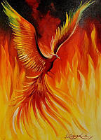 «Птица Феникс» картина маслом