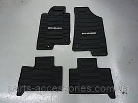 Коврики резиновые передние задние Hummer H3 2006-10 новые оригинал