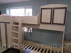 Кровать двухярусная Дисней горка 2180х2942х1062мм дуб светлый   Мебель-Сервис, фото 3