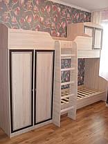 Кровать двухярусная Дисней горка 2180х2942х1062мм дуб светлый   Мебель-Сервис, фото 2