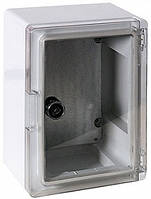 Шкаф ударопрочный из АБС-пластика e.plbox.210.280.130.tr, IP65 с прозрачной дверцей