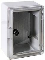 Шкаф монтажный ударопрочный навесной из АБС-пластика 210×280×130 (IP65, ABS-пластик, с прозрачной крышкой)