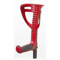 Костыль с подлокотником FDI Opti-Comfort (красный подлокотник)