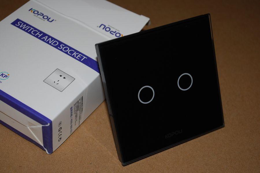 Сенсорный выключатель Kopou 2 линии