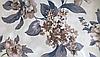 Ткани обивочные мебельные велюр ФАНТАЗИЯ КАХВЕ (цветочные)