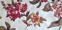 Ткани обивочные мебельные велюр ФАНТАЗИЯ КИРМИЗИ (цветочные)