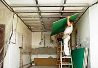 Поэтапный монтаж потолка из гипсокартона