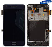 Дисплей + touchscreen (сенсор) для Samsung Galaxy S2 Plus i9105, с рамкой, синий, оригинал