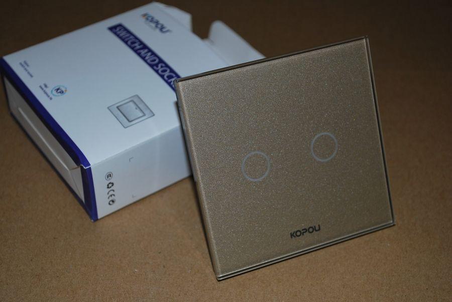 Сенсорный выключатель с диммером 2 линии Kopou