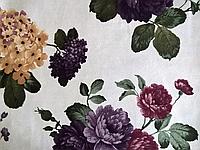 Ткани обивочные мебельные велюр ЛАРА МОР (цветочные)