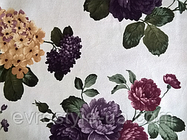 Ткань мебельная обивочная велюр Лара Мор (цветочная)
