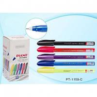 Ручка кулькова масляна Piano PТ-1159-C синя (50шт/уп)
