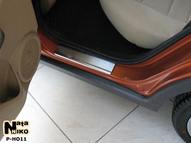 Накладки на пороги Premium Honda Civic VIII 5D 2006-2011-