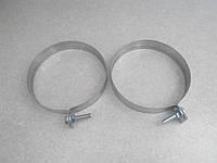 Хомут обжимной из оцинкованной стали 0,5 мм. (304) 130