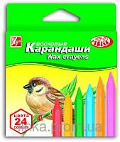 "Луч Восковые карандаши 24 цвета ""Зоо"" мини 12C866-08   Арт 290110"