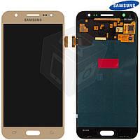 Дисплейный модуль (дисплей + сенсор) для Samsung Galaxy J5 J500F / J500H / J500M, золотой, оригинал
